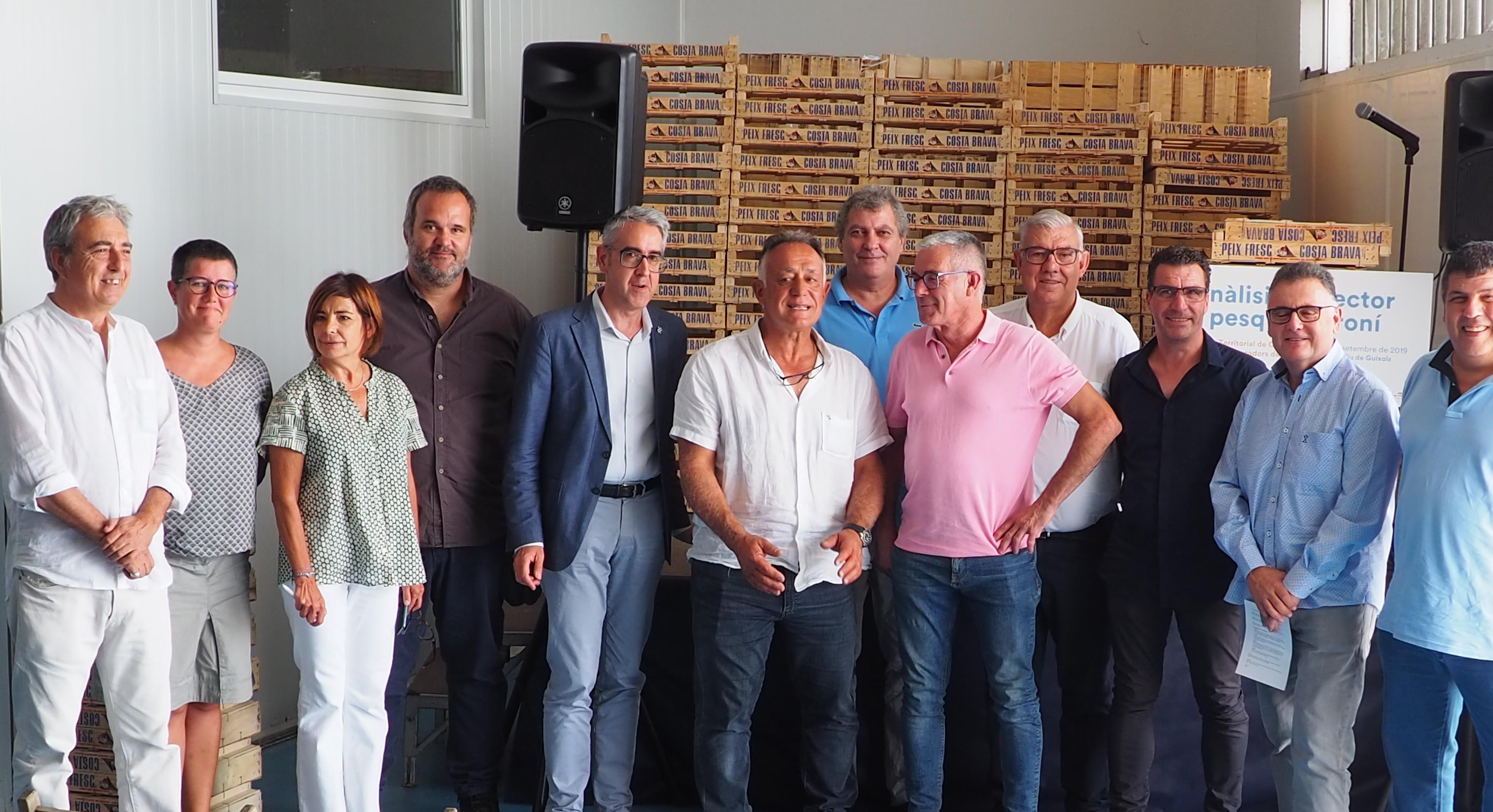 Representants de les confraries i el Director Gral de Pesca